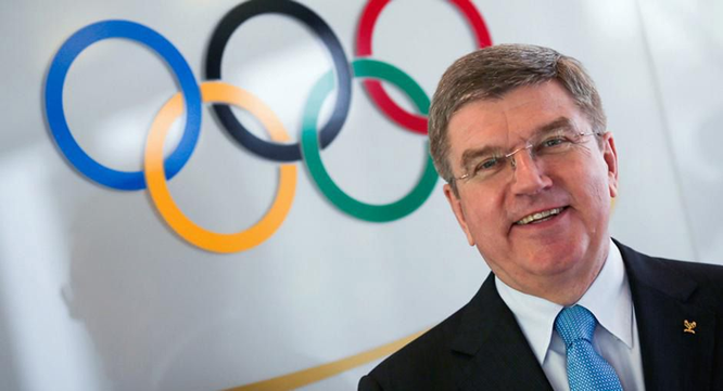 IOC President, Bach, for fencing display in Nigeria