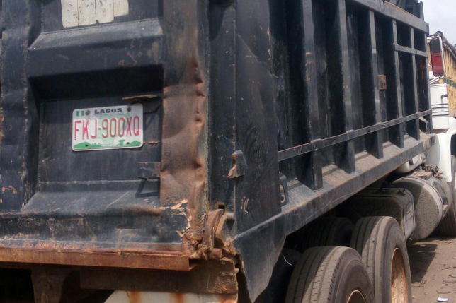 Tipper driver kills mother in-law, sister in-law, 6-month-old baby in Edo