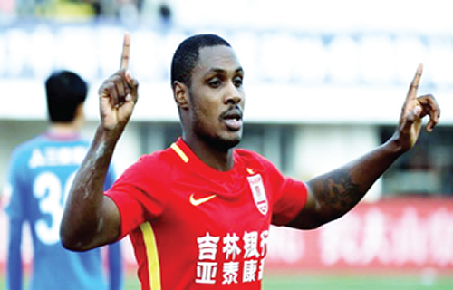 Chinese Cup win delights Ighalo