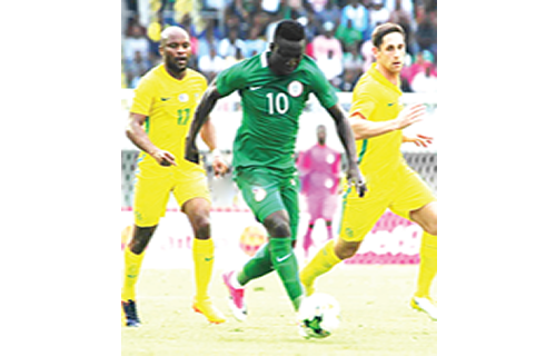 Etebo doubtful for Seychelles, Egypt ties