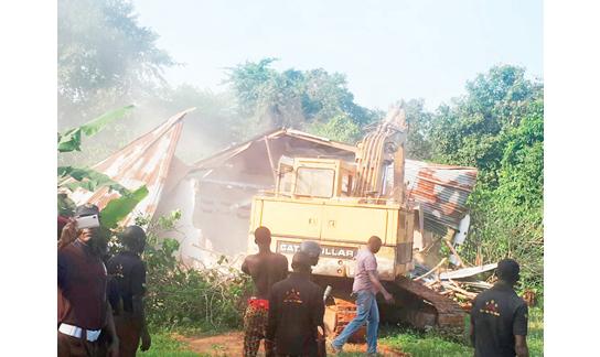 Badoo: Police demolish six shrines in Ikorodu