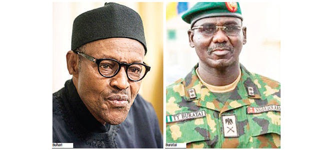 Buratai updates Buhari on security situation