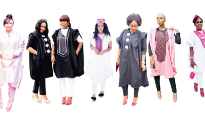 Boss ladies in Agbada