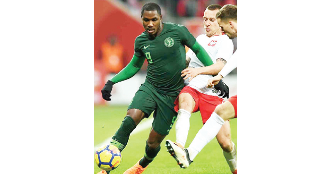 Ighalo injured, doubtful for South Africa clash