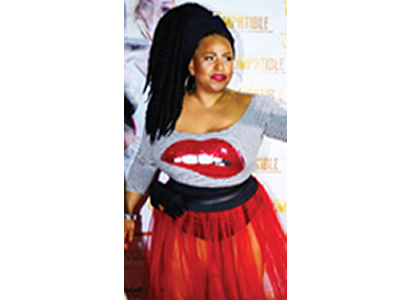 Miss-K flaunts assets in see-through skirt at premiere of Nollywood movie