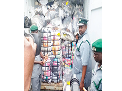 Customs seizes military camouflage, machetes, others worth N543.95m