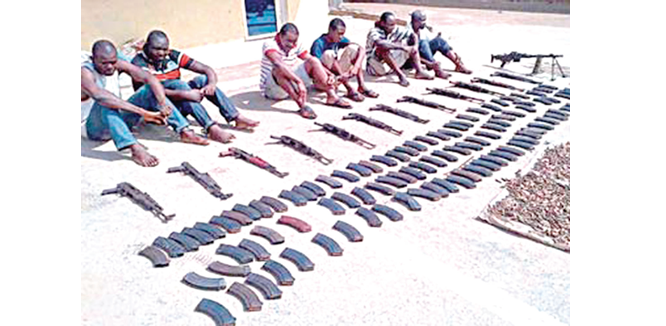Corps member, 10 suspects arrested for drugs, arms' possession
