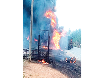 FRSC: Tanker fire destroys six buildings, shops in Onitsha