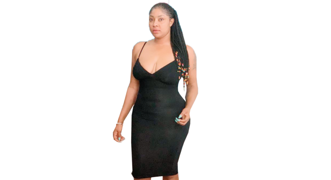 Stop showing us your fallen heroes –Fans slam Angela Okorie for showing too much cleavage
