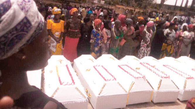 Family members, friends, relations wept profusely as Nasarawa naming ceremony get mass burial