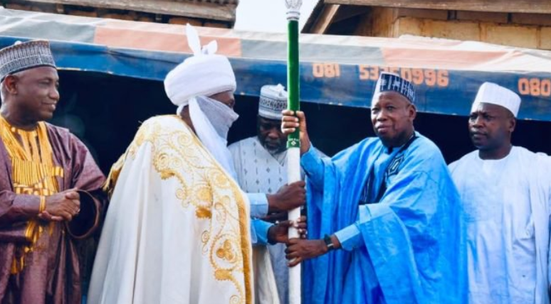 Ganduje presents staff of office to new emirs