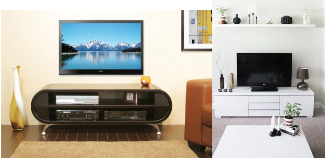 INTERIORS:  Sleek TV stand