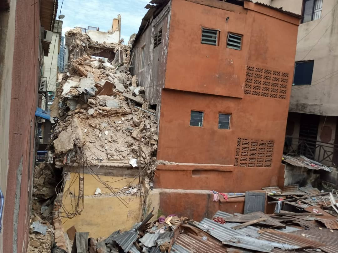 PHOTOS: Building collapses in Lagos, Many feared dead
