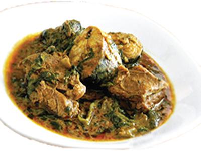 Nigerian banga soup (Ofe Akwu)