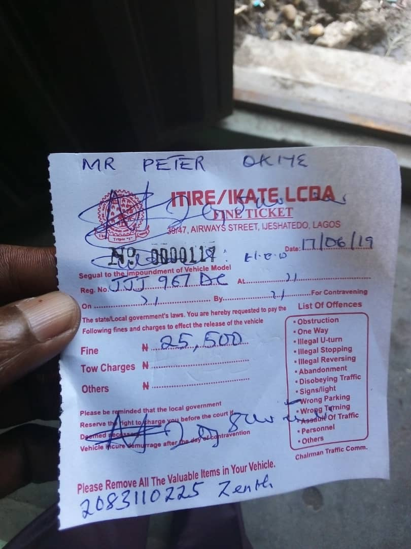 Surulere LG officials forced me to pay N20,000 fine into a private account – Man