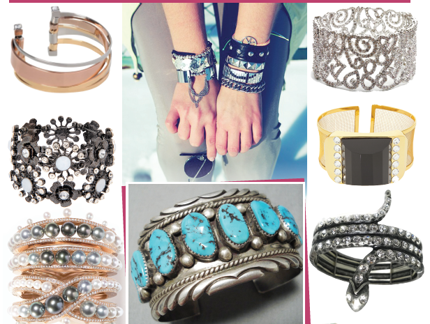 Dramatic bracelets add glamour to outfits