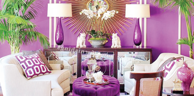 Give your guests the royal treatment with purple