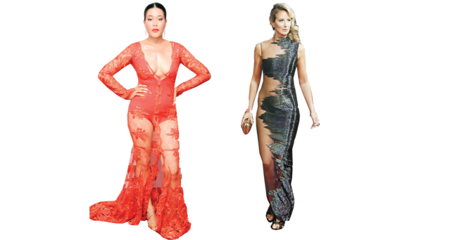 Jaw-dropping sheer dresses