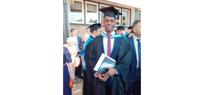 Youngest monarch, Obi Noah Akaeze graduates in UK