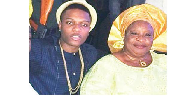 Wizkid celebrates mother on birthday