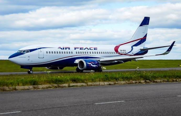 Air Peace plane damaged after forceful landing in Lagos