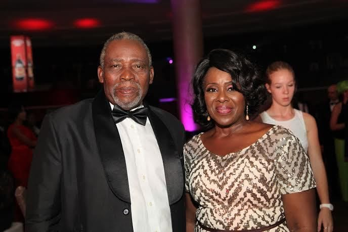 Joke Silva celebrates husband, Olu Jacobs @ 77th
