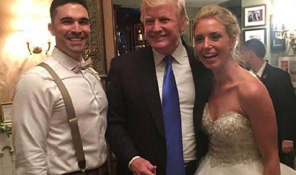 Trump crashes wedding, prompting 'USA' chants