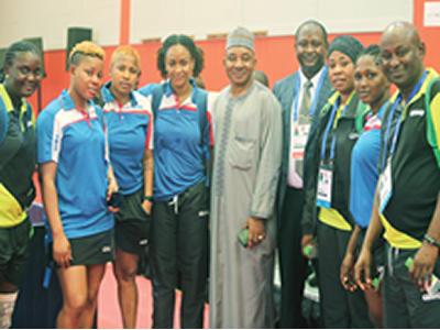 African Games:Ambassador rallies support for t'tennis team