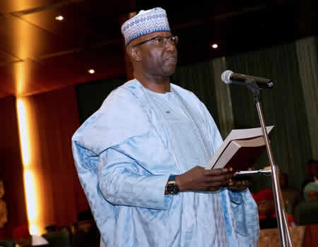 Boss Mustapha takes oath as SGF