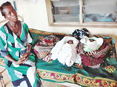 Displaced, with triplets, in need