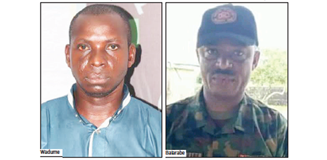 My romance with Army captain, arms business - Wadume