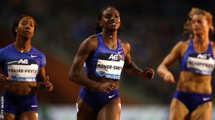 Diamond League: Britain's Asher-Smith posts season's best to win 100m