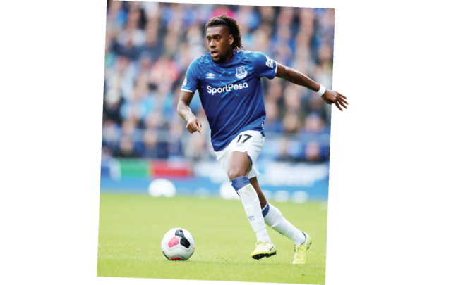 Iwobi can't play as Everton's number 10 – Bent