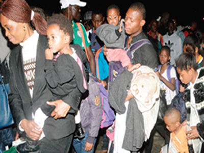 Xenophobia: Again, 315 Nigerians return from South Africa