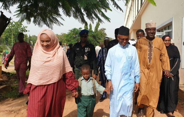 El-Rufa'i keeps promise, enrols son in public primary school