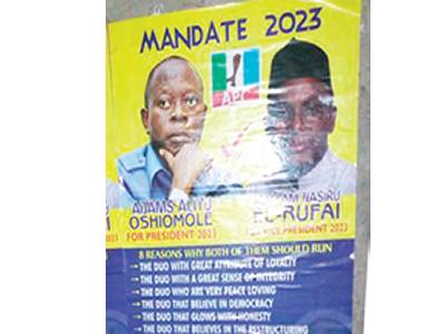 2023: Oshiomhole, el-Rufai's presidential campaign posters flood Lagos