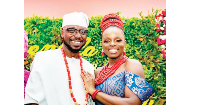 Pomp as Akeredolu gives daughter's hand in marriage
