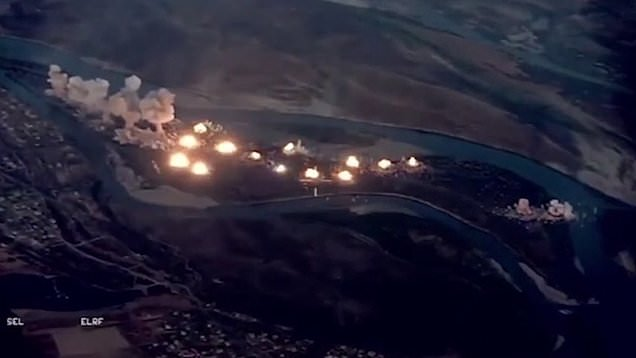US drops 40 tonnes of bombs to 'wipe out' ISIS-infested island