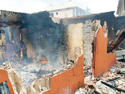 Edo midnight fire destroys goods worth millions of naira