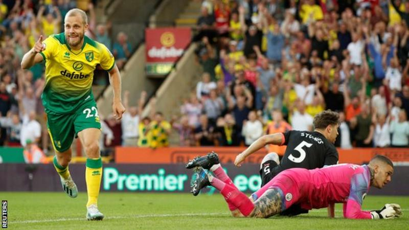 EPL: Norwich stun Man City 3-2