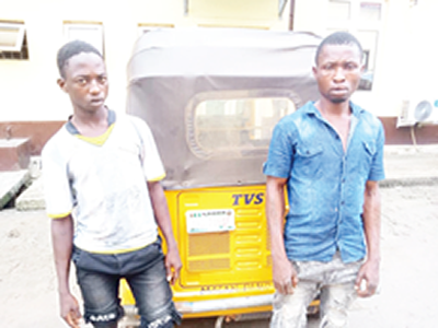 Ex-convict, accomplice offer stolen tricycle for N40,000
