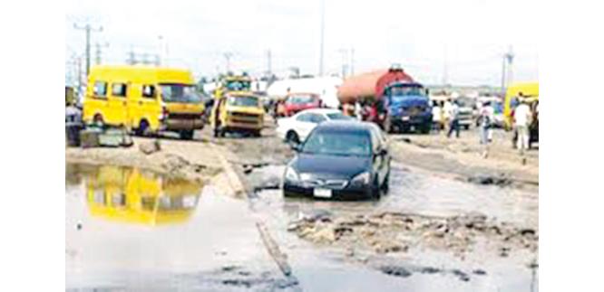Bad roads: Lagosians' headache
