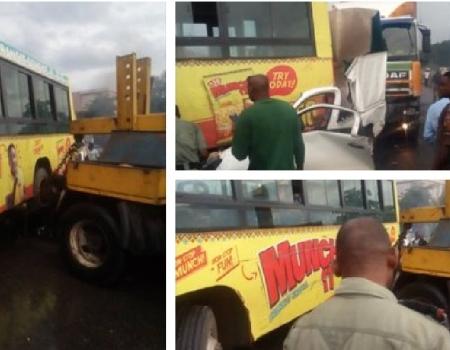 JUST IN: Multiple accident grounds traffic on Otedola Bridge, many trapped — LATSMA