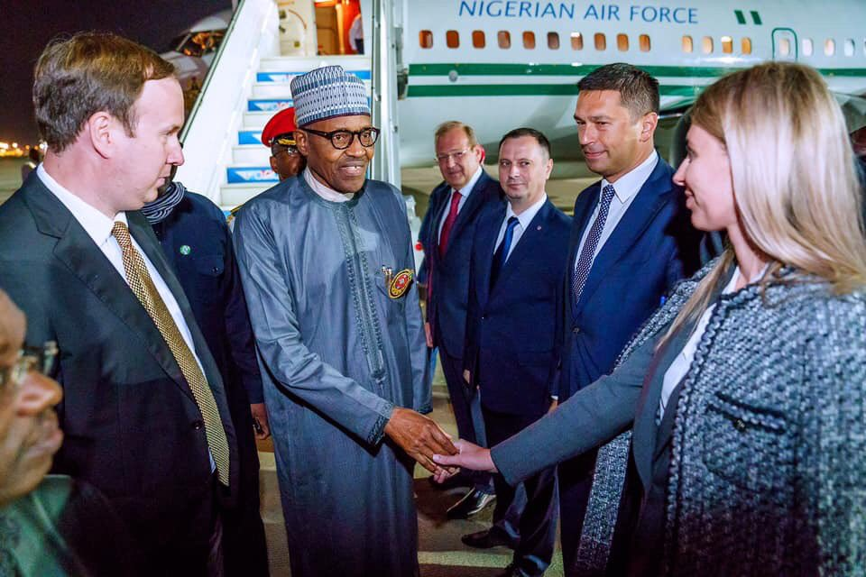 Buhari arrives Sochi for Russia-Africa Economic Forum