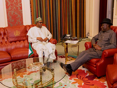 Jonathan, Buhari meet in Aso Rock, keep mum