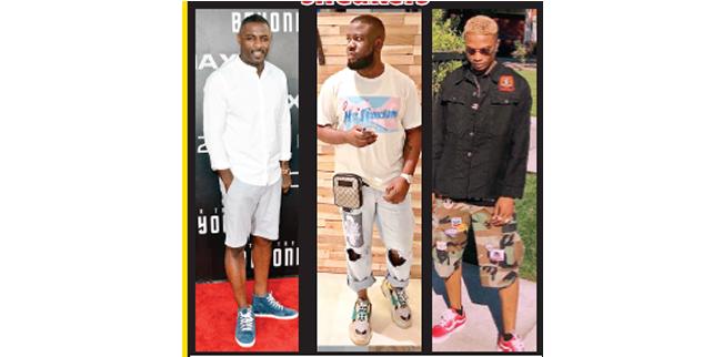 Kicking it in stylish sneakers
