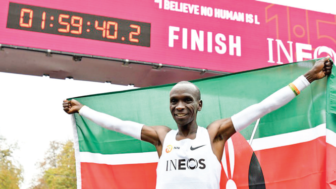Kipchoge breaks two-hour marathon mark