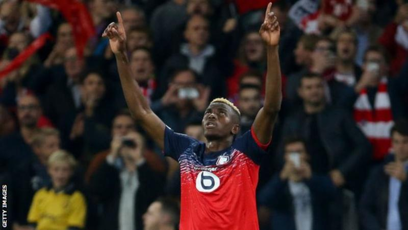 Osimhen wins French Player of the Month award