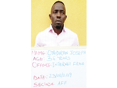 FBI suspect, Oyediran, jailed one year