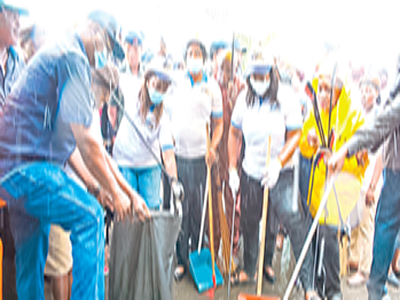 When Sanwo-Olu, Hamzat's wives cleaned Lagos drainages